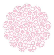 Bella Blvd Invisibles Die-Cut Plastic Sheet 12X12 - Pink Posies UTGÅENDE