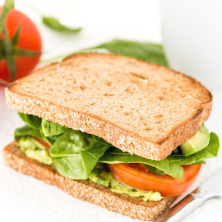 Avocado Tomato Sandwich With Baby Spinach