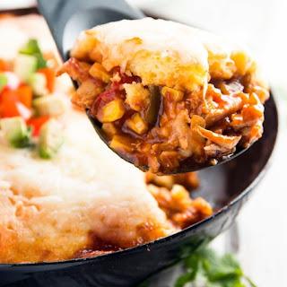 Cheesy Cornbread Chicken Tamale Pie Casserole