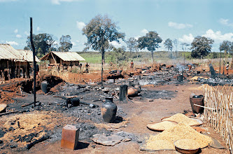 Photo: General views of the destroyed montagnards of Dak son new life Hamlet, December 7, 1967 in Vietnam. Vietcong killed 114 of the villagers and wounded 47. (AP Photo)