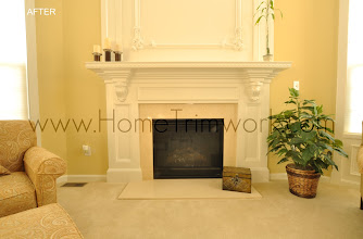 Photo: (After) Fireplace mantle with corbels and picture frames KJ's Downigtown, PA
