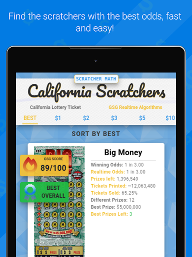 Scratcher Math: California App Report on Mobile Action - App Store