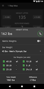 1 Rep Max Calculator- screenshot thumbnail