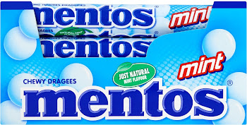 Mentos Chewy Dragees - Mint, 40 x 38g