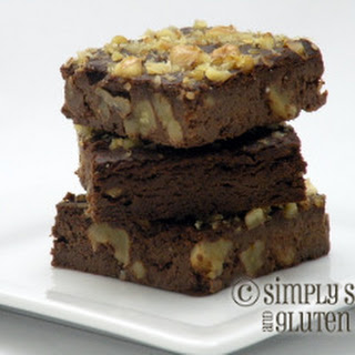 Chocolate Walnut Flourless Brownies.