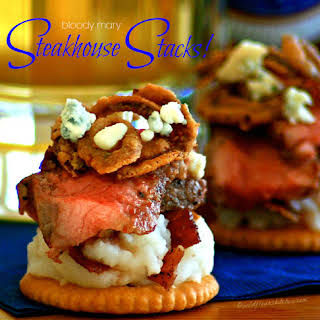 Spicy Bloody Mary Steakhouse Stacks.