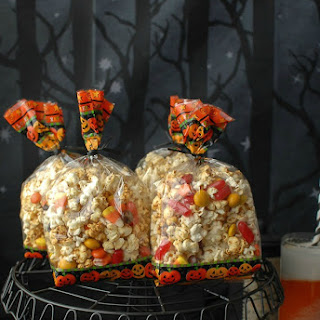 Orange-flavored Kettle Corn and Halloween Orange Kettle Corn Treat Mix