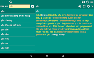 Screenshot of English Vietnamese Dict Free