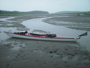 Photo: Stuck at low tide in the Mendenhall Bar looking northwest.