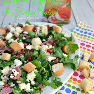 Bacon Spinach and Feta Salad.