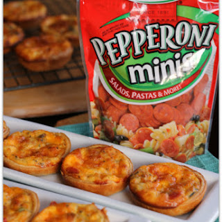 Mini Breakfast Quiche with Hormel Pepperoni