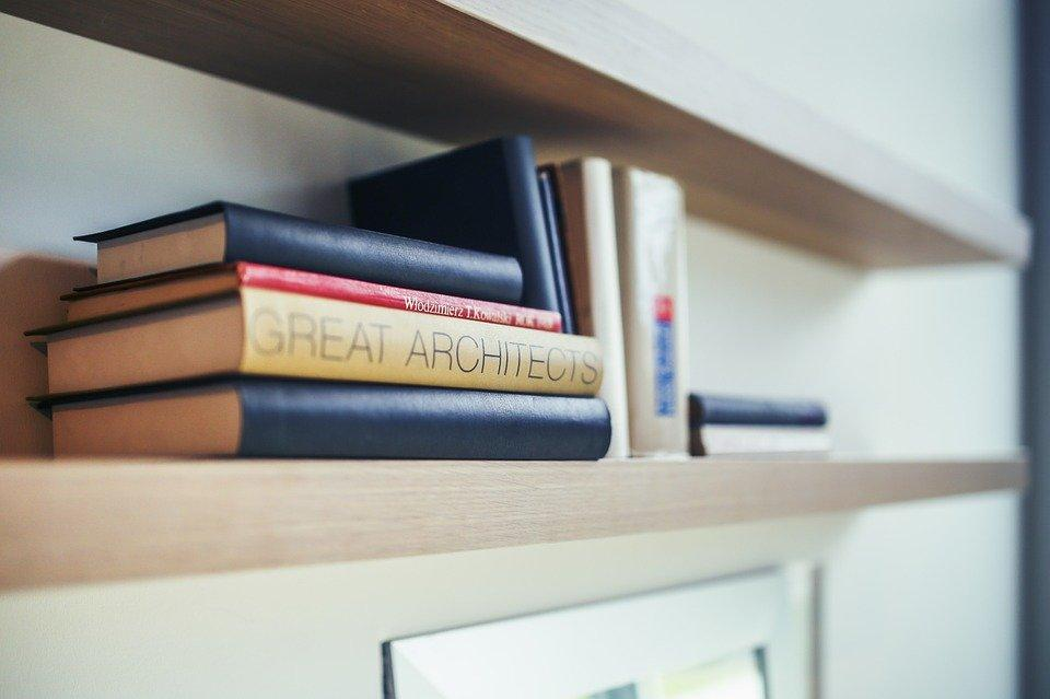建築家, 本, 書籍, シェルフ, 勉強, 学習, プランナー, 建物