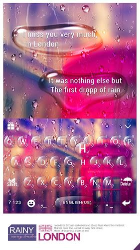 Rainy London Kika Keyboard Android App Screenshot