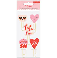 Crate Paper Decorative Clips 5/Pkg - La La Love