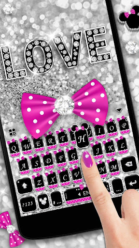 Twinkle Minny Bowknot Keyboard Theme for PC