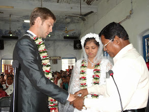 Photo: A local Indian Pastor married David & Suzane.