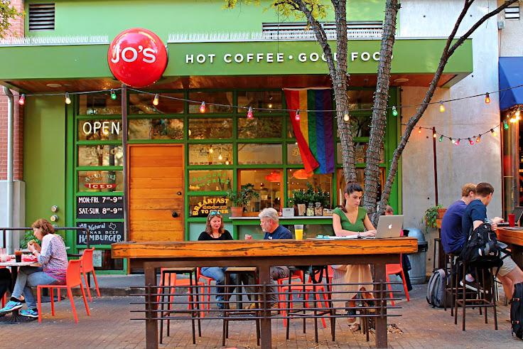 The front patio of Jo's.