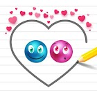 Lovely balls : Play the draw luv dots brain game icon