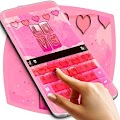 Pink Retro Love Keyboard
