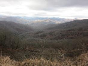 Photo: Beauty & the beast - splendid views of far off mountains & views of destruction