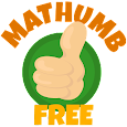 Mathumb Free - Math game for two icon