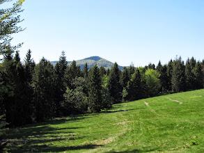 Photo: 20.Z kolejnej polany widać już Mogielicę (1170 m).