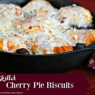 Skillet Cherry Pie Biscuits.