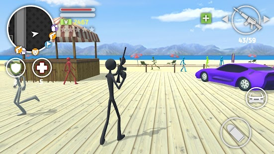 Grand Stickman Auto V Screenshot