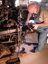 Photo: Dave Seat removing the mechanical quadder from the 31 and replacing it with a Star quadder, fall 2011.