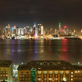 NYC by Mike Mulligan - City,  Street & Park  Skylines ( skyline, midtown, night, cityscape, new york,  )