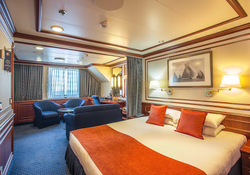 National-Geographic-Orion-Category-4-Deluxe-Suite.jpg - Relax in your Category 4 Deluxe Suite aboard National Geographic Orion during your Lindblad Expeditions trip.