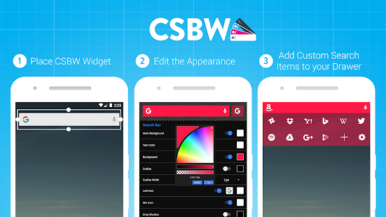 Custom Search Bar Widget CSBW Screenshot