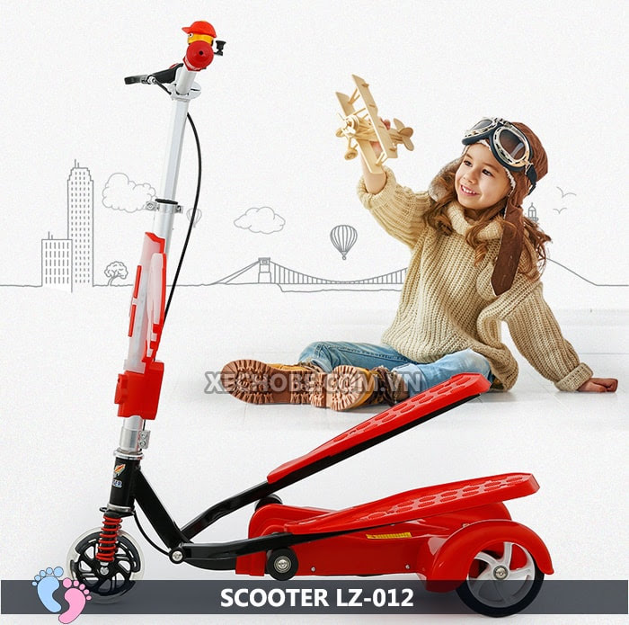 Xe trượt Scooter đạp chân LZ-012 có đèn, nhạc 2