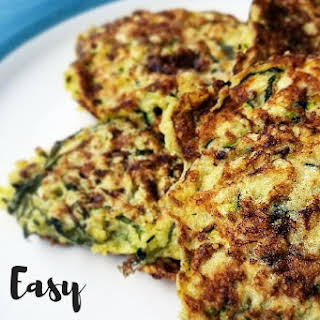 Easy Zucchini Fritters (Gluten Free, Dairy Free).