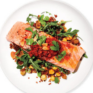 Marc Murphy's Salmon, Red Quinoa and Arugula Salad