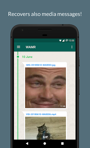 WAMR - Recover deleted messages & status download 0.10.6 Screenshots 3