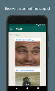 WAMR – Recover deleted messages & status download 3