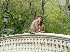 """Photo: The Doctor and Amy Pond on Central Park's Bow Bridge...as in """"bow"""" ties are cool? Hmm..."""