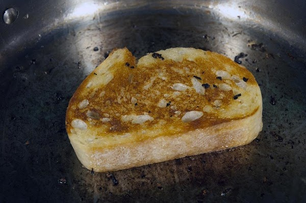 Toast in the sauté pan, about 2 minutes per side.