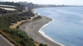 Espacio del litoral abderitano delimitado para poder disfrutar con los perros.