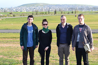 Photo: A view of Kobane. The second on the right: Mauro Desira, head of the project