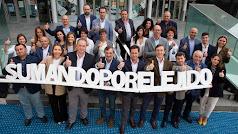 La candidatura del PP de El Ejido, este lunes, en su presentación oficial.