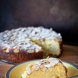 Meyer Lemon Ricotta Cake with Almonds (no flour).
