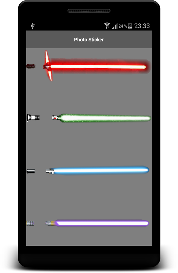 Lightsaber Photo Maker Cam App- スクリーンショット