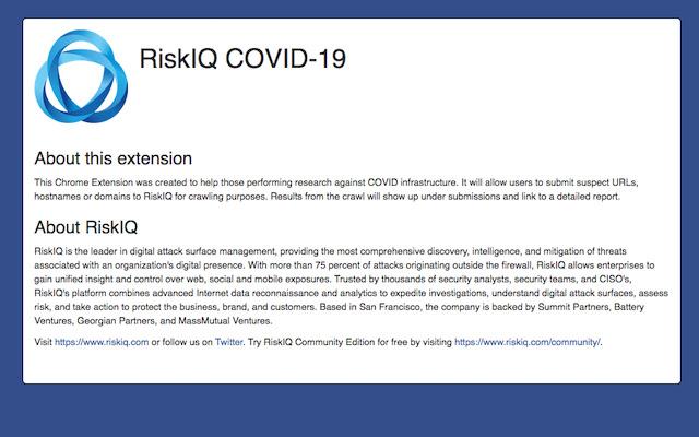 RiskIQ COVID-19