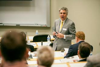 Photo: Alumni Board Spring Meeting. Presentation by Eric Johnson(Vanderbilt University /  Daniel Dubois)