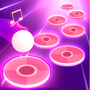 Pink Tiles Hop 3D - Dancing Music Game
