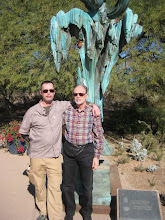 Photo: David (L) was on his semester break and came to AZ with us. (Steve R)
