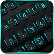 Black Blue Light Keyboard