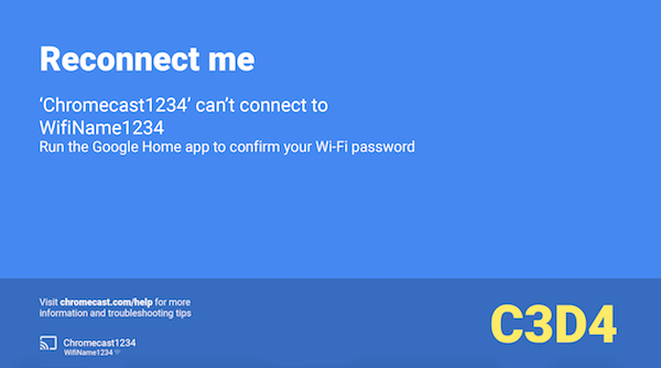 fix a reconnect me error chromecast help